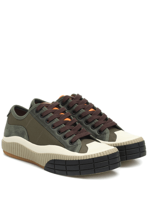 Clint leather-trimmed sneakers