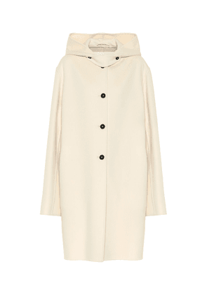 Hooded cashmere coat