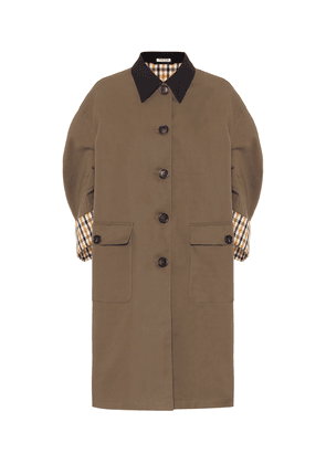 Cotton poplin coat