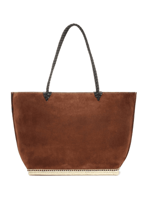 The Espadrille Large suede tote