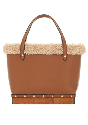 Clog Small leather tote