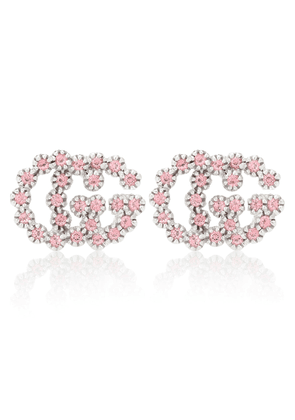 GG Running white 18kt white-gold earrings with topaz and diamonds