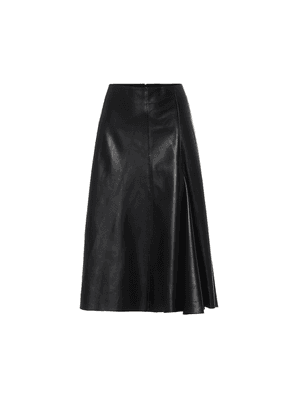 High-rise leather skirt