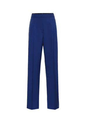 High-rise straight pants