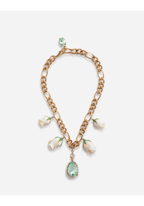 Dolce & Gabbana Bijoux - SHORT NECKLACE WITH DECORATIVE ELEMENTS GOLD