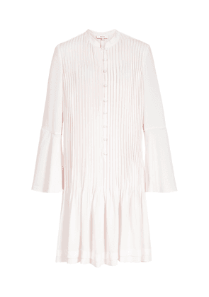 Reiss Sylvan - Pleated Shirt Dress in Off White, Womens, Size 4