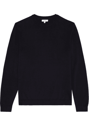 Reiss Maurice - Crew Neck Jumper in Navy, Mens, Size XS
