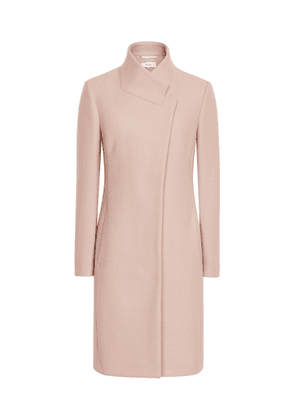 Reiss Mabel - Longline Coat in Soft Pink, Womens, Size 4