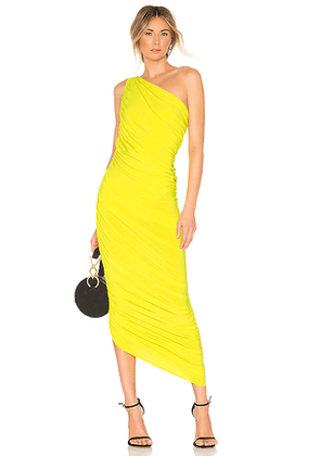 Norma Kamali Diana Gown in Yellow. Size S.