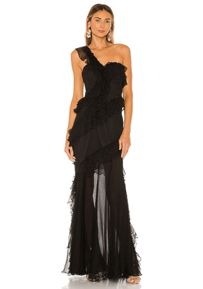 AMUR Harlow Dress in Black. Size 0.