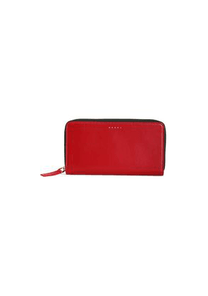 Marni Leather Continental Wallet Woman Crimson Size --