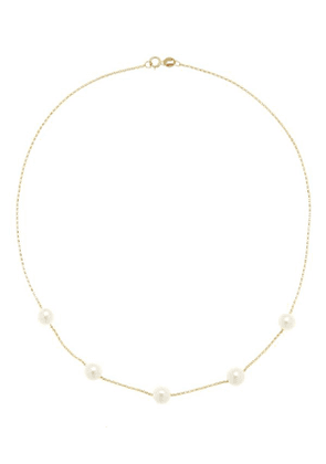 Gold Frost In May Pearl Necklace
