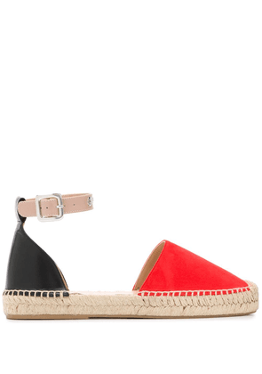 Mulberry two-tone espadrilles - Red