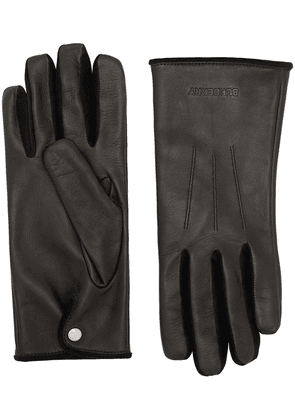 Burberry embossed logo leather gloves - Black