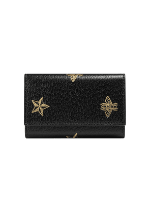Gucci Bee Star leather key case - Black