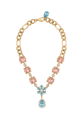 Dolce & Gabbana floral crystal-embellished necklace - GOLD