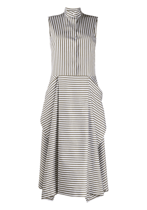 Mulberry striped flared dress - Green