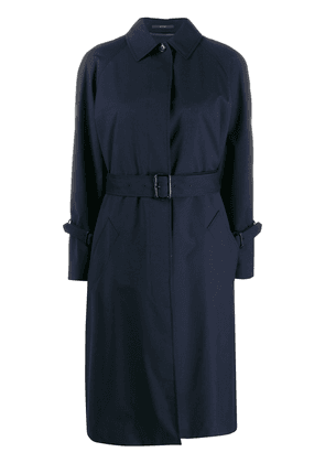 Paul Smith belted midi trench coat - Blue