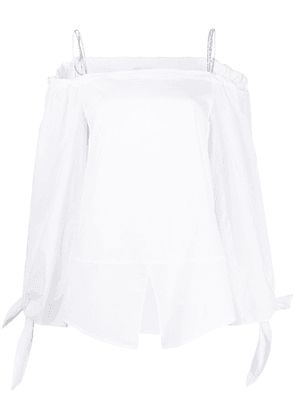 Dondup off the shoulder blouse - White