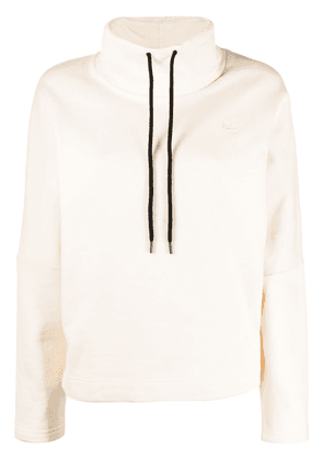 McQ Alexander McQueen drawstring high-neck jumper - NEUTRALS
