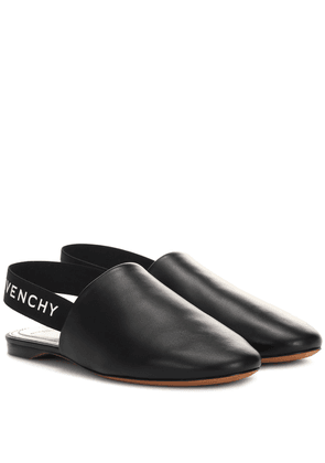 Leather slingback slippers