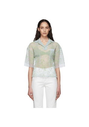Jacquemus Blue and Green Le Polo Lavandou Polo