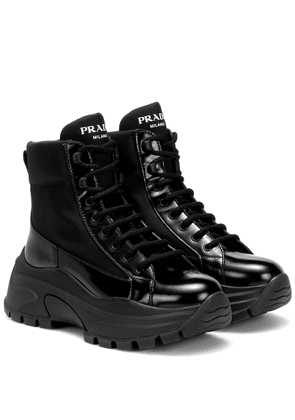 Technical-twill ankle boots