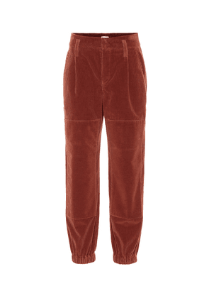 High-rise corduroy pants