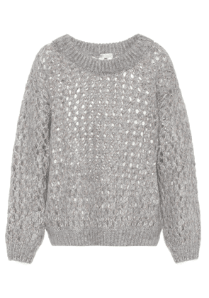Mohair and cashmere-blend sweater