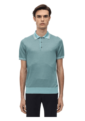 Jacquard Knit Polo Shirt