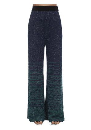 Sequined Knit Flared Pants