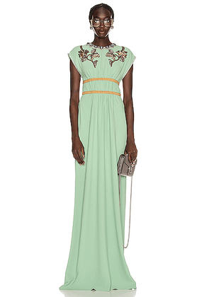 Gucci Evening Gown in Mint Cream - Green,Floral. Size XS (also in M,S,XXS).