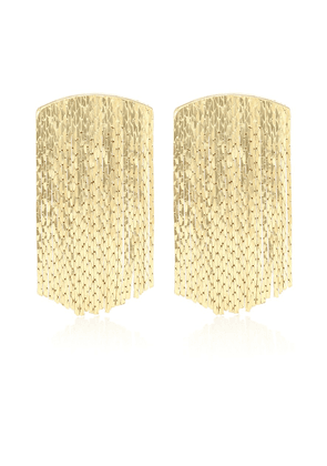 Fil d'Or 18kt gold-plated earrings