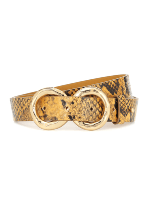 Infinity python-effect leather belt
