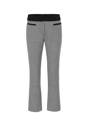 Checked wool straight pants