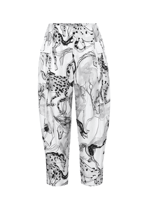 Rosalinda printed silk pants