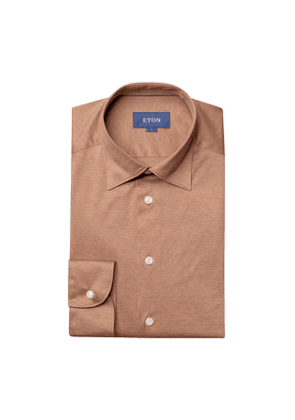 Light Brown Cotton Jersey Shirt
