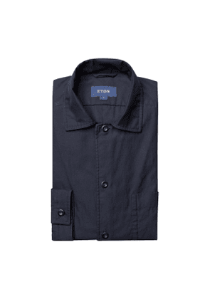Navy Cotton 3-Pocket Overshirt
