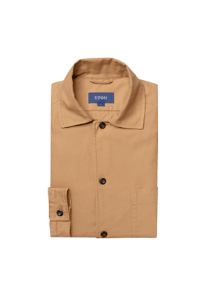 Brown Cotton 3-Pocket Overshirt
