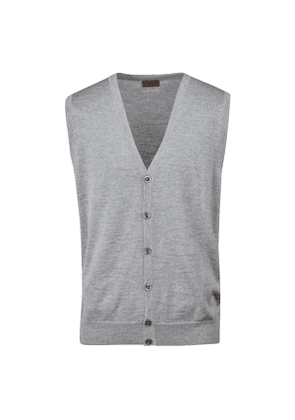 Light Grey Merino Wool Vest