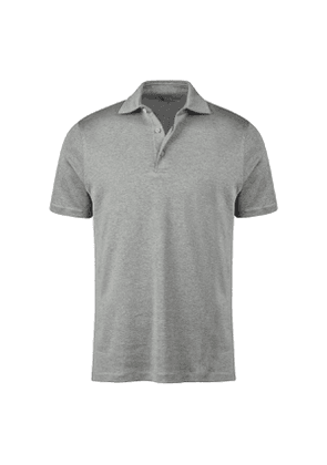 Grey Mercerised Cotton Polo Shirt