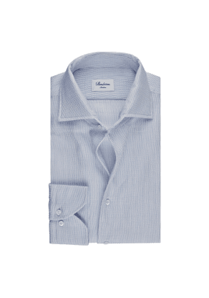 Light Blue Cotton Bouclé Slim Shirt