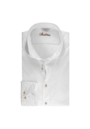 White Cotton Slim Shirt