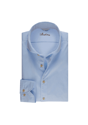 Light Blue Cotton Slim Shirt