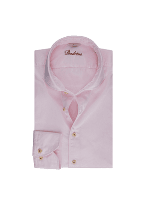 Light Pink Cotton Slim Shirt