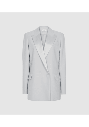 Reiss Cleo - Double Breasted Blazer in Ice Blue, Womens, Size 4