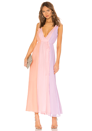 Privacy Please Laurel Maxi Dress in Pink. Size M.