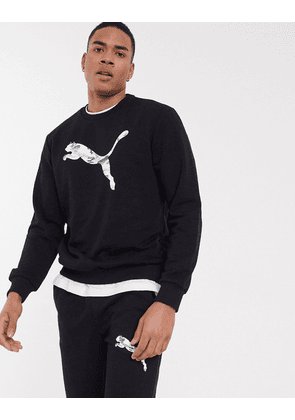 Puma crew neck sweatshirt in black