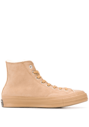 Converse high top shearling lined sneakers - NEUTRALS