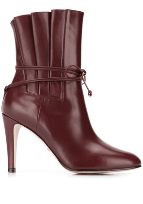 Gucci tie ankle boots - Brown